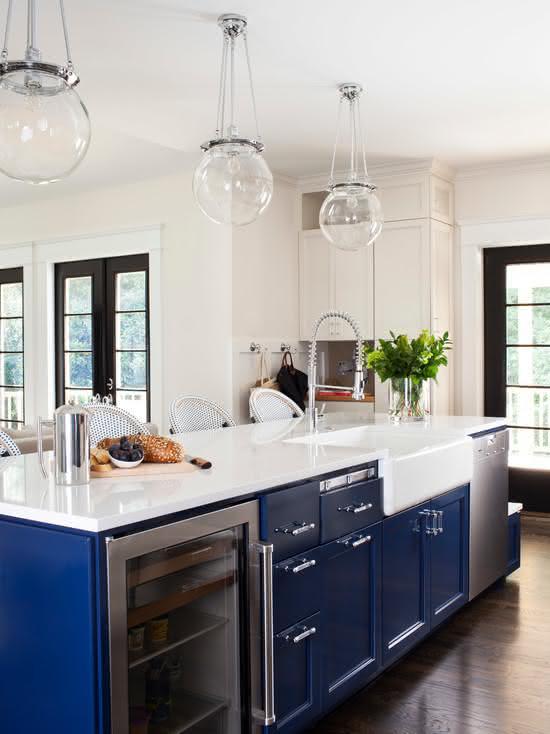 estilo de decoração navy na cozinha