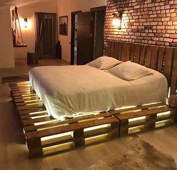 cama de palete moderna