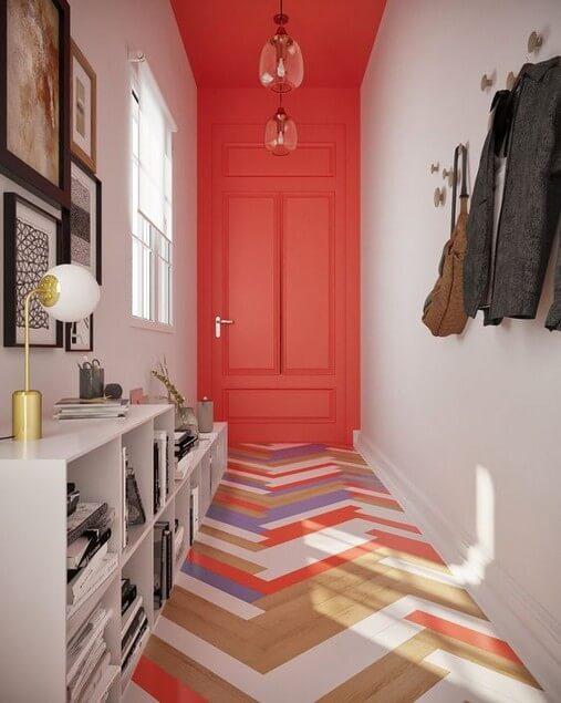 corredor pintado colorido