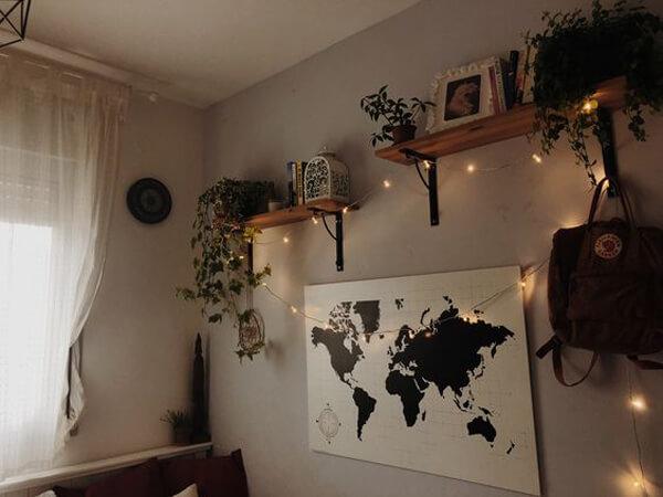 luminárias no quarto tumblr