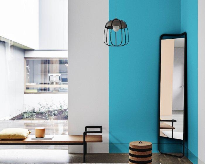decoração com azul