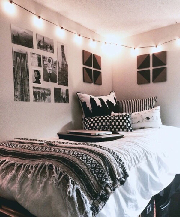 quarto com decoração tumblr