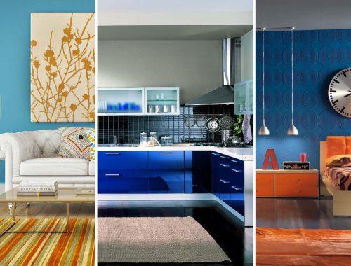azul na decoração