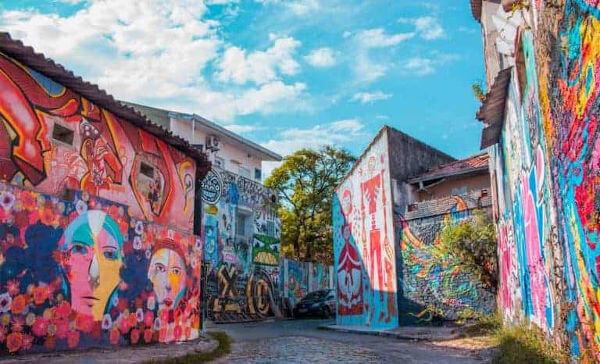 arte com grafite na rua