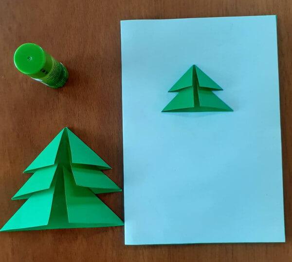 como fazer cartao arvore de natal