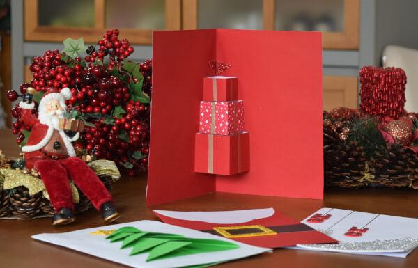 cartão de natal presentes