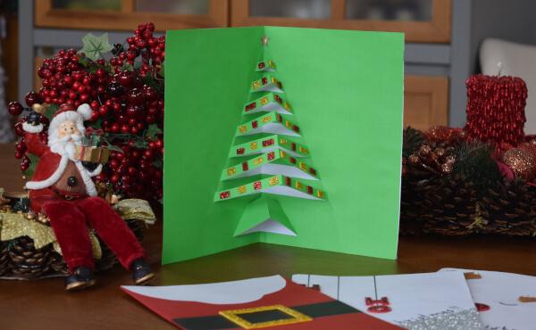 Cartão pinheirinho 3D