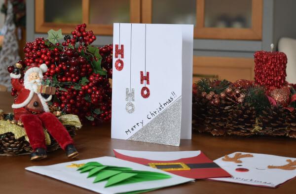 como fazer cartão de Natal criativo