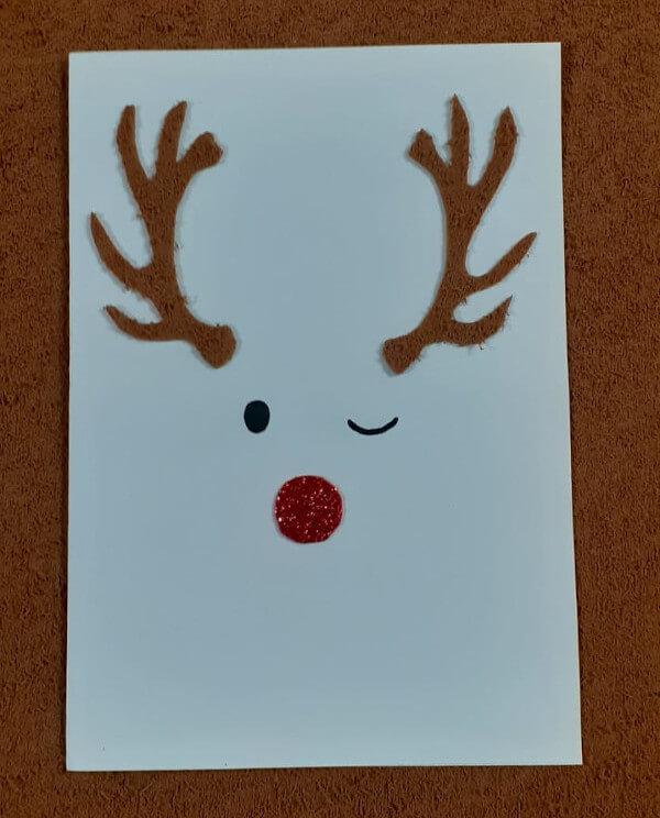 Cartão rena Natal