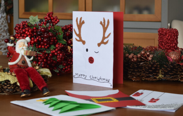 cartão natalino Rena