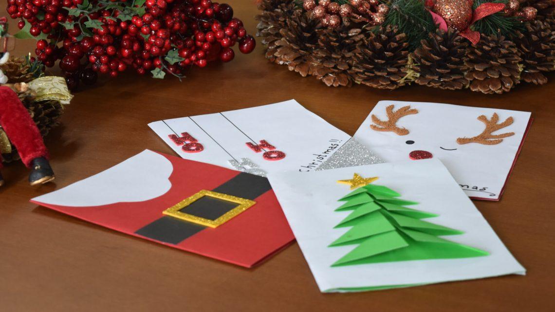 Cartão de Natal faça você mesmo