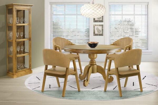 cadeira de courino na decoração