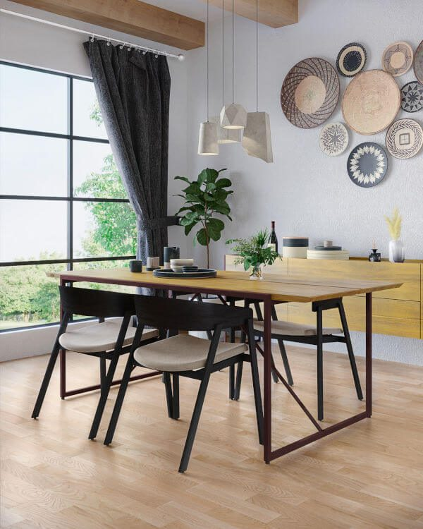 Cadeira Luna na sala de jantar