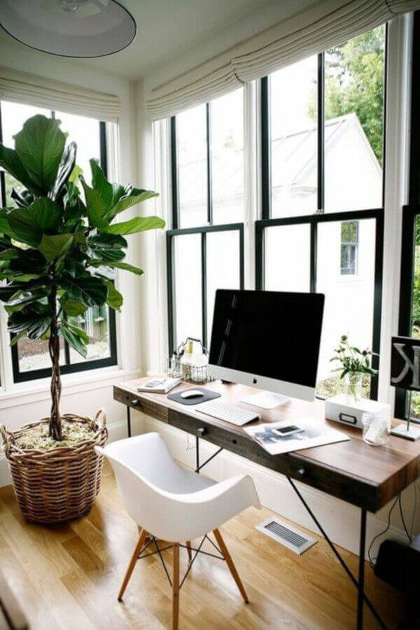 home office luz natural