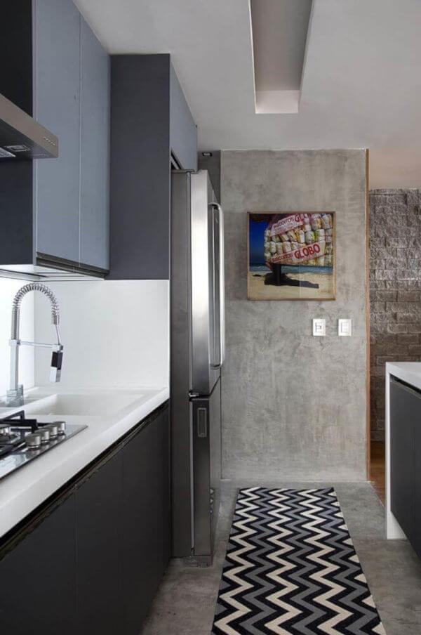cozinha com tapete