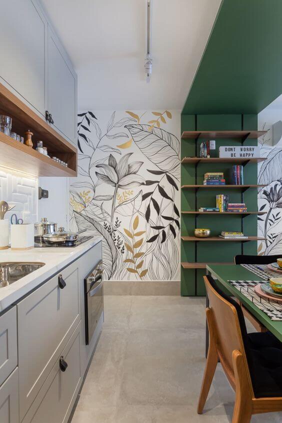 parede de cozinha personalizada