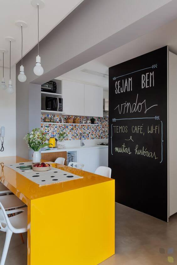 parede de lousas-cozinha