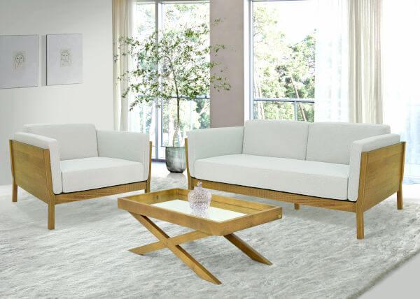 conjunto sofás e mesa centro