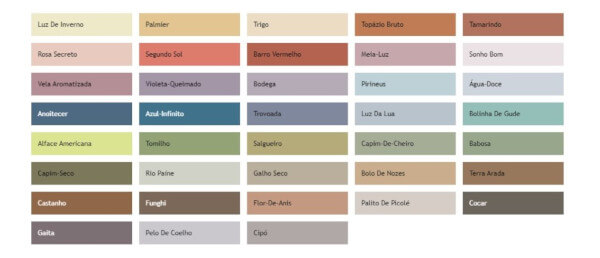 Paleta cores 2021 Meia Luz Suvinil