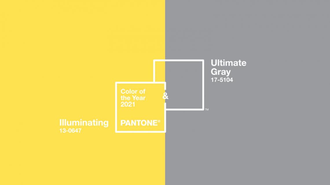 Cores Pantone 2021 Ultimate Gray e Illuminating