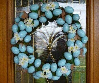 Guilanda de cascas de ovos Páscoa