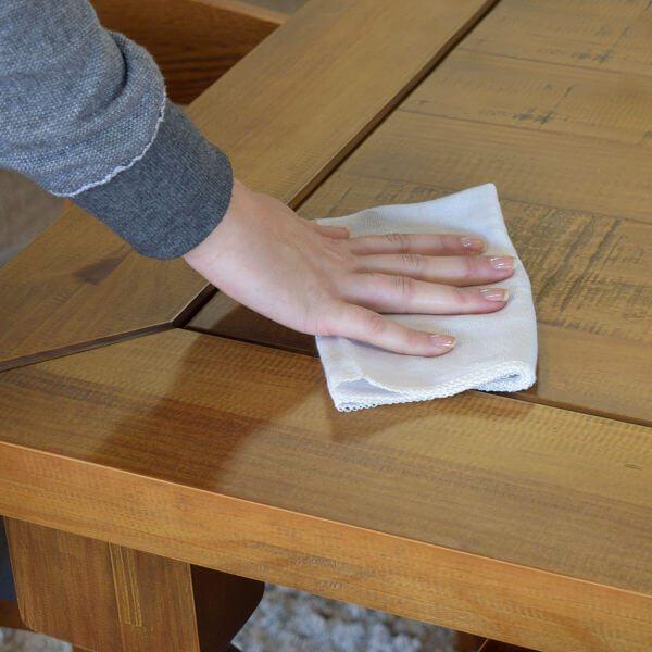 Limpeza da madeira