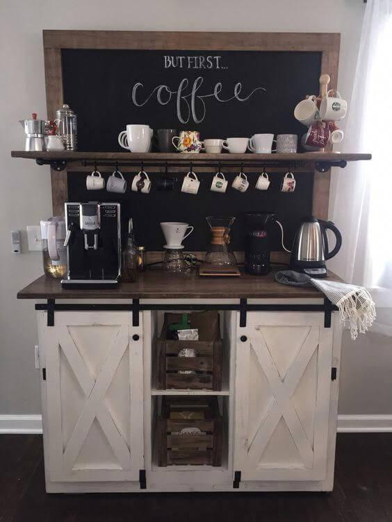 Decoração do cantinho do café